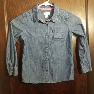 Girls Chambray Button Up